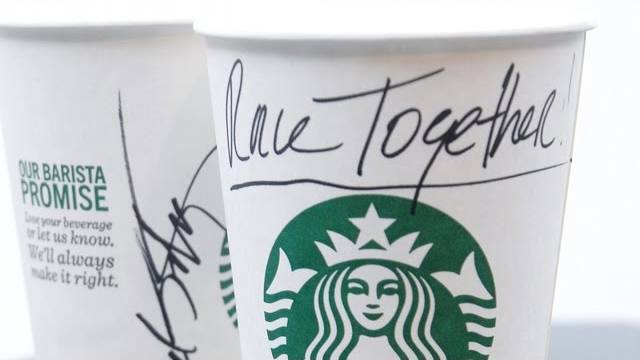 race together starbucks cup